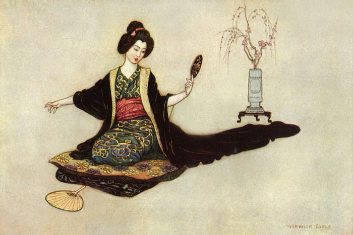 Reflections, Warwick Goble, Green Willow and Other Japanese Fairy Tales