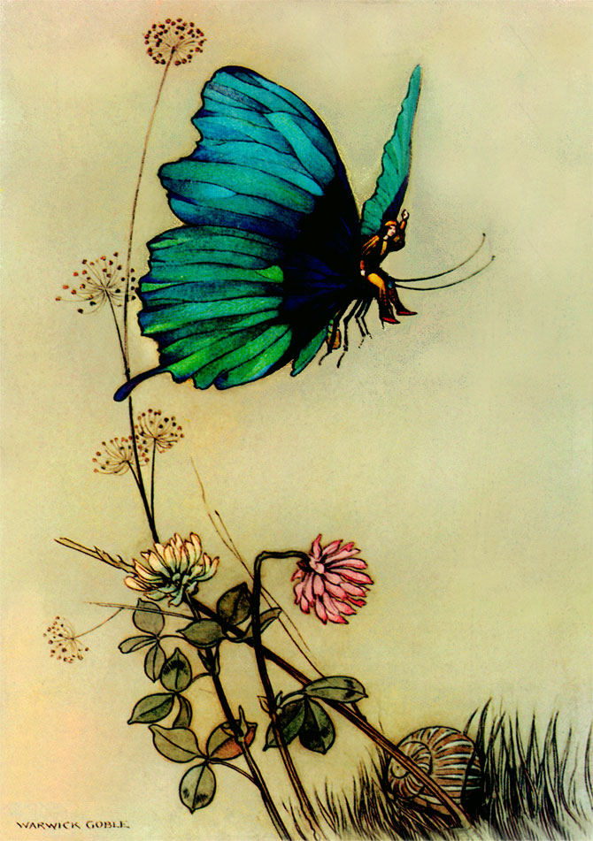 Hop o' My Thumb, Warwick Goble, The Fairy Book