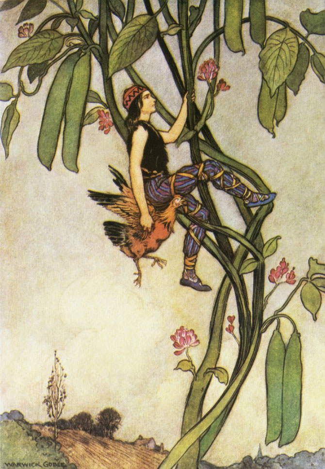 Jack and the Beanstalk, Warwick Goble, The Fairy Book