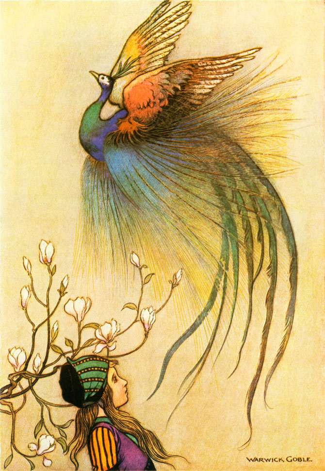 The Juniper Tree, Warwick Goble, The Fairy Book