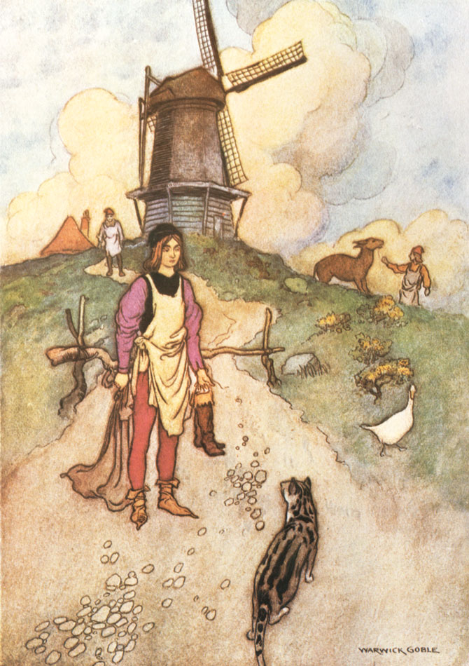 Puss in Boots, Warwick Goble, The Fairy Book