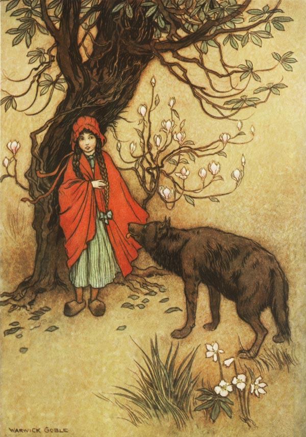 Red Riding Hood, Warwick Goble, The Fairy Book