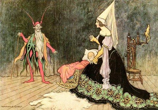 Rumplestiltskin, Warwick Goble, The Fairy Book