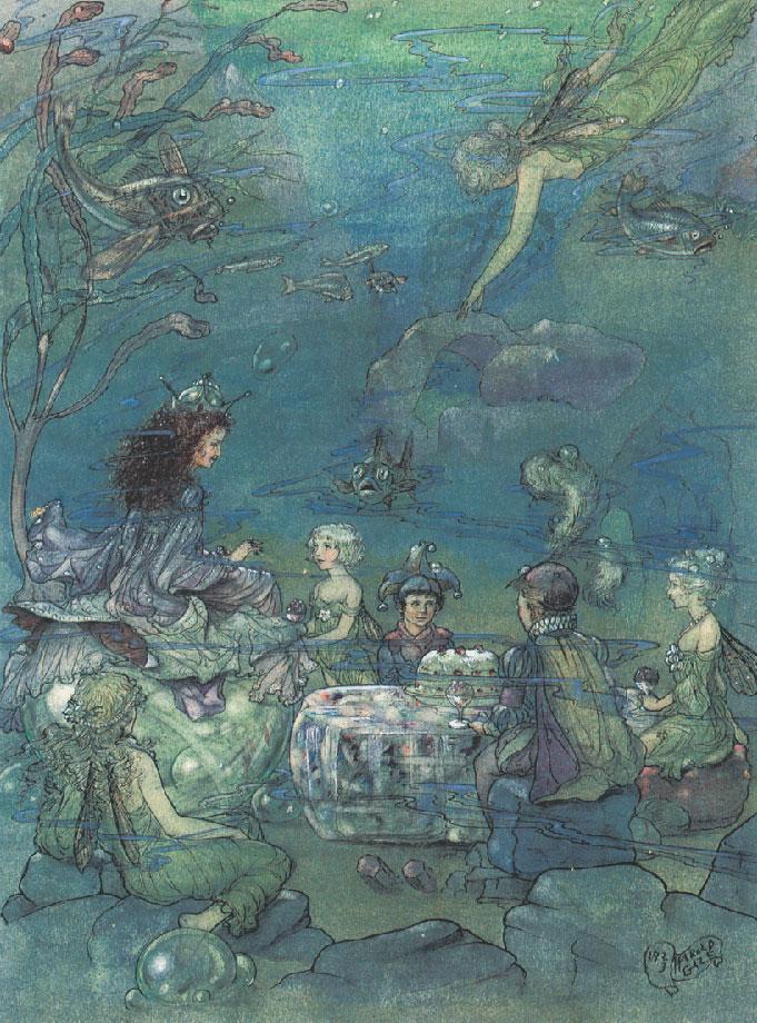 Undersea Tea Party by Harold Gaze, circa 1923