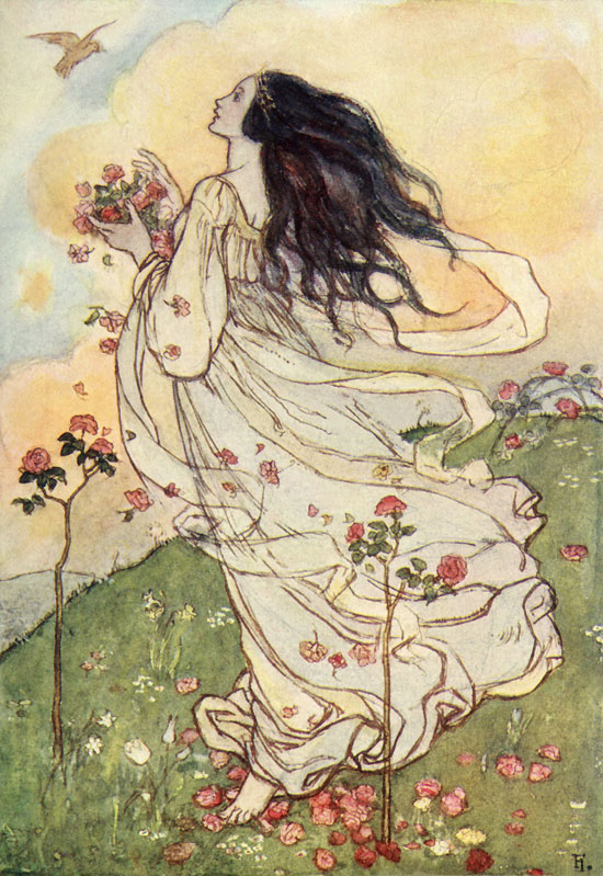 A Birthday, illustration by Emma Florence Harrison to the Poems of Christina Rossetti