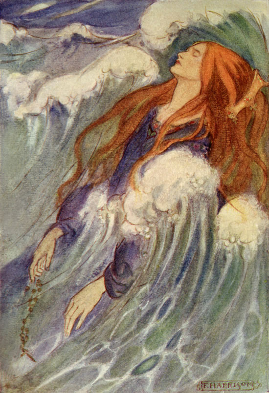 Dreamland, illustration by Emma Florence Harrison to the Poems of Christina Rossetti