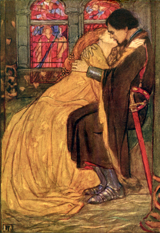 Guinevere, illustration by Emma Florence Harrison to the Poems of Tennyson