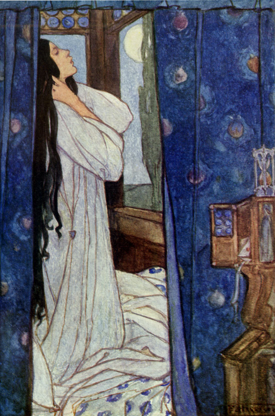 Mariana, illustration by Emma Florence Harrison to the Poems of Tennyson