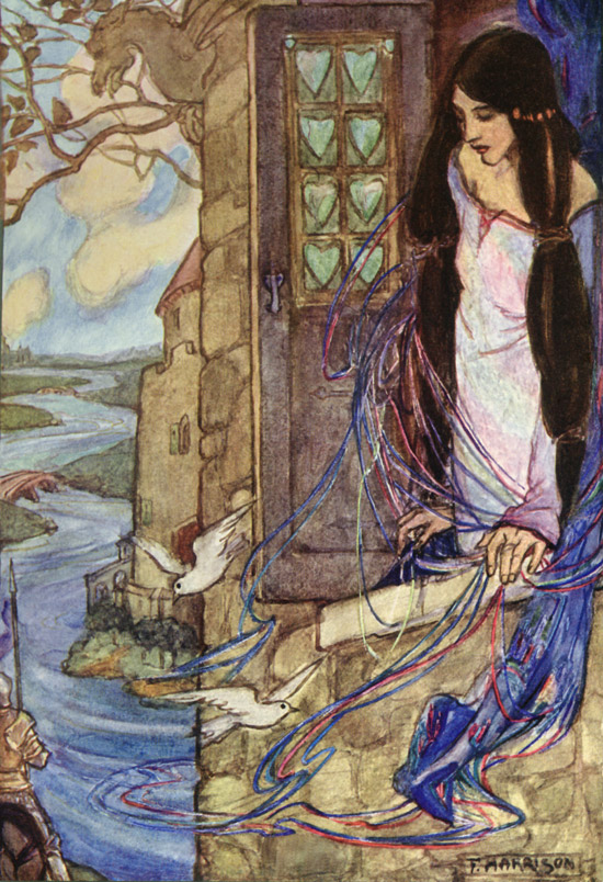 The Lady of Shalott, illustration by Emma Florence Harrison to the Poems of Tennyson