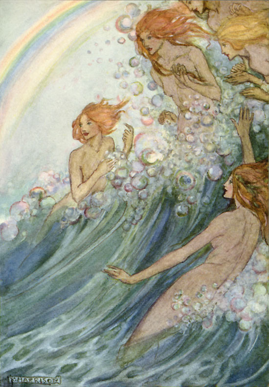 The Sea Fairies, illustration by Emma Florence Harrison to the Poems of Tennyson