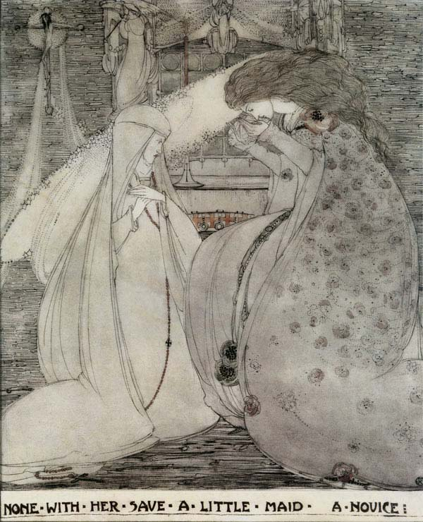 Guinevere, None with her Save a Little Maid, A Novice, Jessie M. King art print