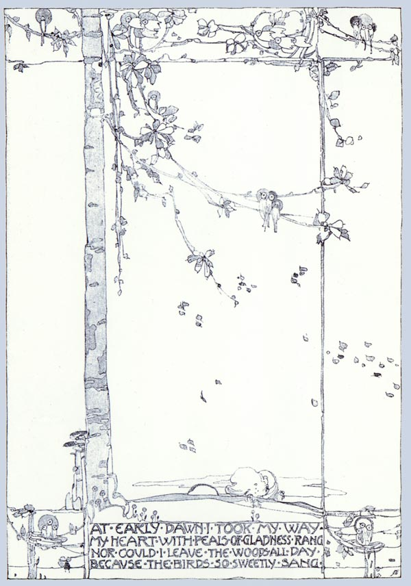 The Birds so Sweetly Sang, Jessie M. King art print
