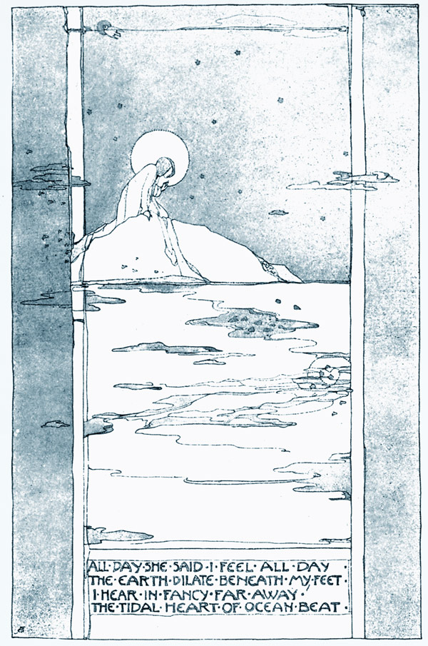 The Tidal Heart of Ocean Beat, Jessie M. King art print