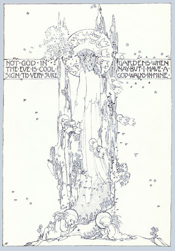 God Walks in Mine, Jessie M. King art print