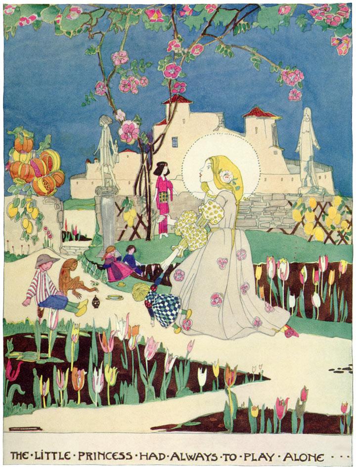 Birthday of the Infanta, Jessie M. King art print