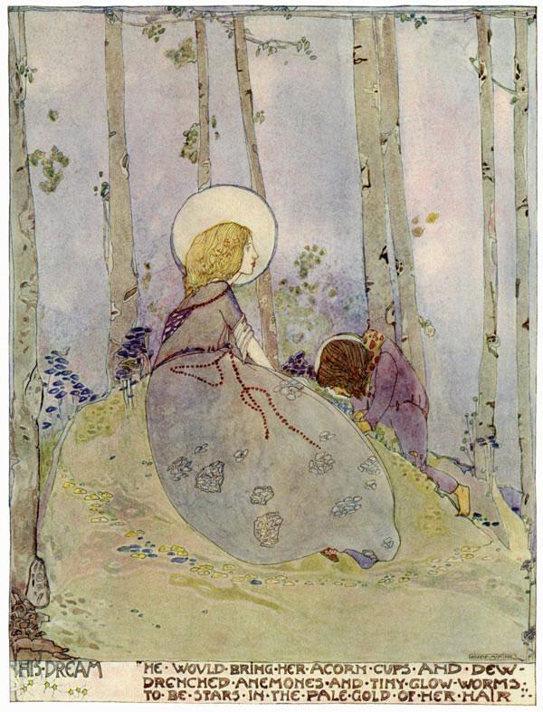 The Dwarf's Dream, Jessie M. King art print