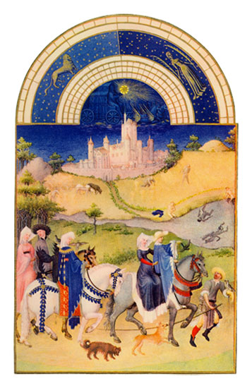 Chateau D'Etamps.  Labors of the Months from the Book of Hours of the Duc de Berry, August