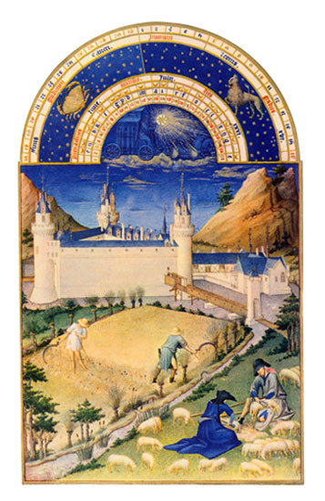 Chateau de Poitiers.  Labors of the Months from the Book of Hours of the Duc de Berry, July