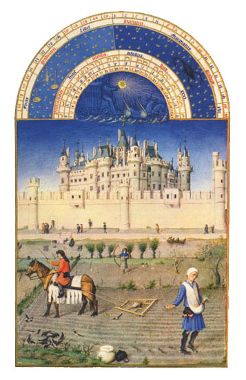 The Louvre.  Labors of the Months from the Book of Hours of the Duc de Berry, October