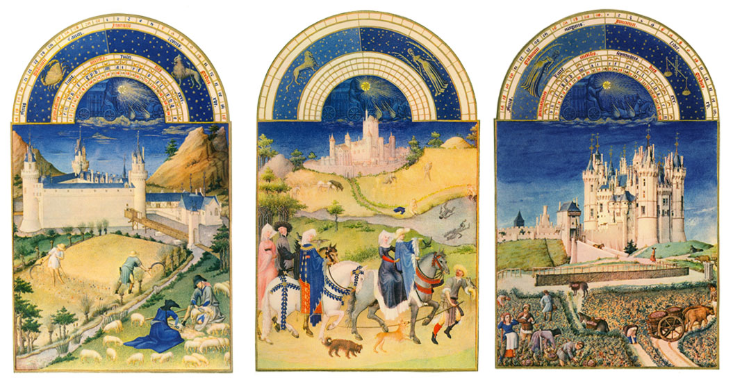The Book of Hours summer months: July, August, September