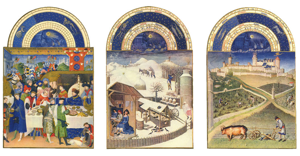 The Book of Hours winter months: January, February, March