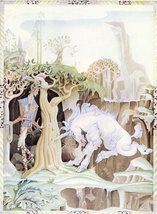 The Tailor and the Unicorn  Fairy Tales of the Brothers Grimm  Kay Nielsen illustration
