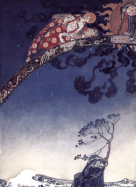 As far away as they could from the castle. Illustration to East of the Sun, West of the Moon -  by Kay Nielsen