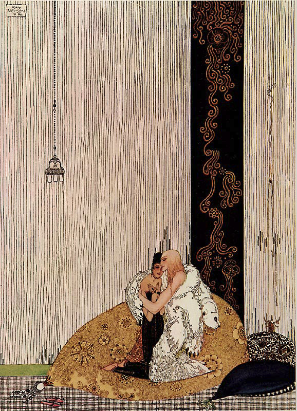 The Lad in the Bear Skin  In Powder and Crinoline  Kay Nielsen illustration