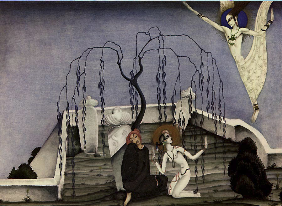 Kay Nielsen, Lovers Meet in a Graveyard