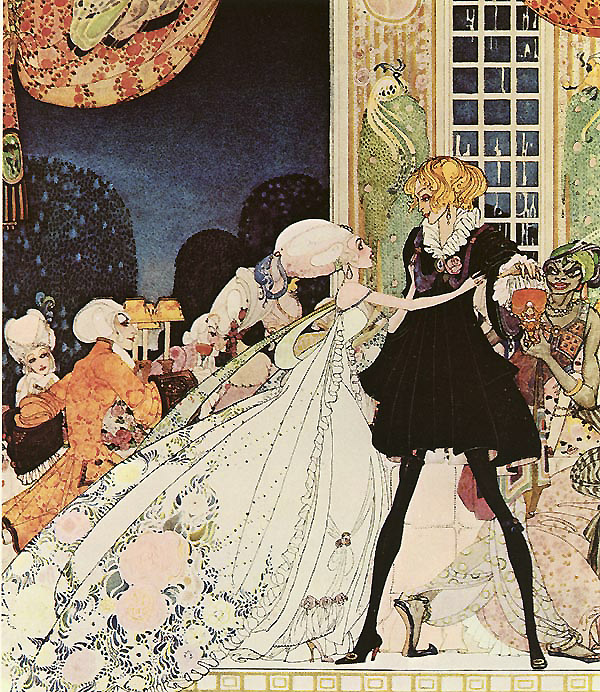 Don't Drink!  I would rather marry a gardener! Illustration to The Twelve Dancing Princesses -  by Kay Nielsen
