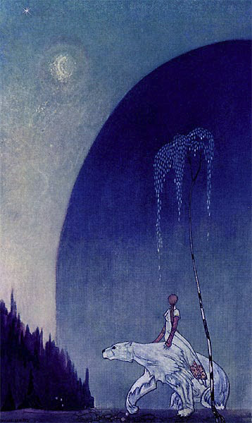 She held tight to the shaggy bear, Kay Nielsen