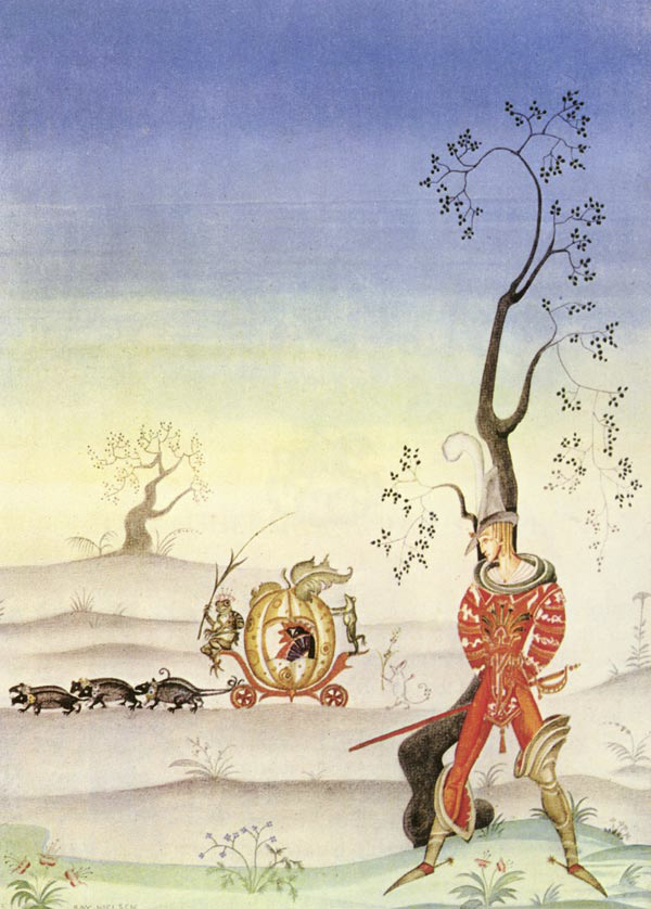 The Frog Bride, a story by The Brothers Grimm - Illustration by Kay Nielsen from Fairy Tales of The Brothers Grimm