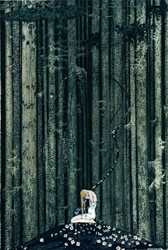 Kay Nielsen, She Rest in the Gloomy Wood