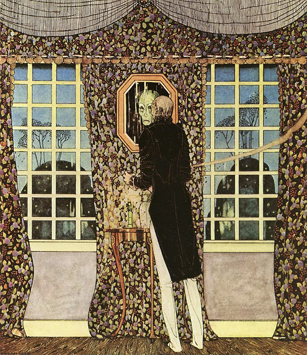 Kay Nielsen, The Man Who Never Laughed: And the mirror told him that his was indeed the withered face and form