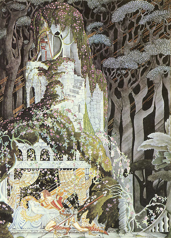 Rosebud, a story by The Brothers Grimm - Illustration by Kay Nielsen from Fairy Tales of The Brothers Grimm