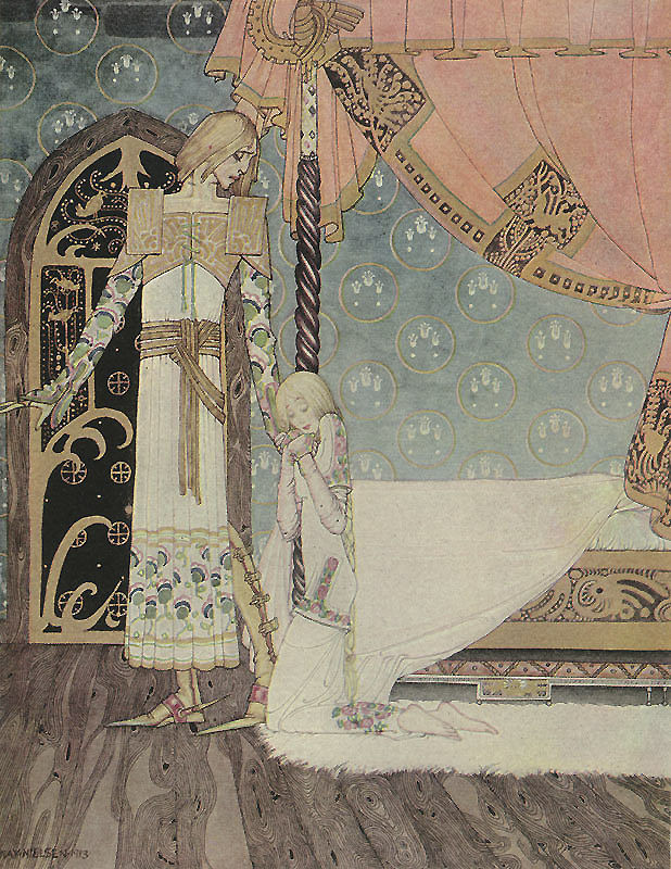 Tell me the way, she said, and I'll search you out. Illustration to East of the Sun, West of the Moon -  by Kay Nielsen