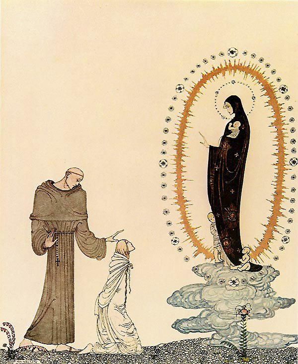 Here are your children, now you shall have them again. I am the Virgin Mary. Illustration to East of the Sun, West of the Moon -  by Kay Nielsen