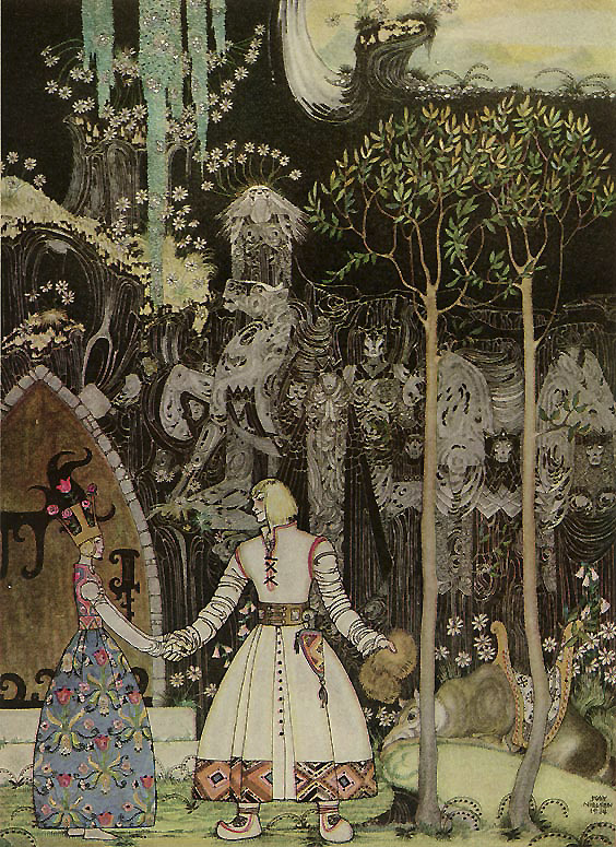 The Wolf was Waiting 																				East of the Sun, West of the Moon 																				Kay Nielsen illustration