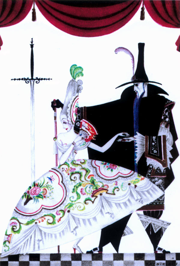 She was Forced to Produce the Keys, Red Magic Frontispiece, Kay Nielsen