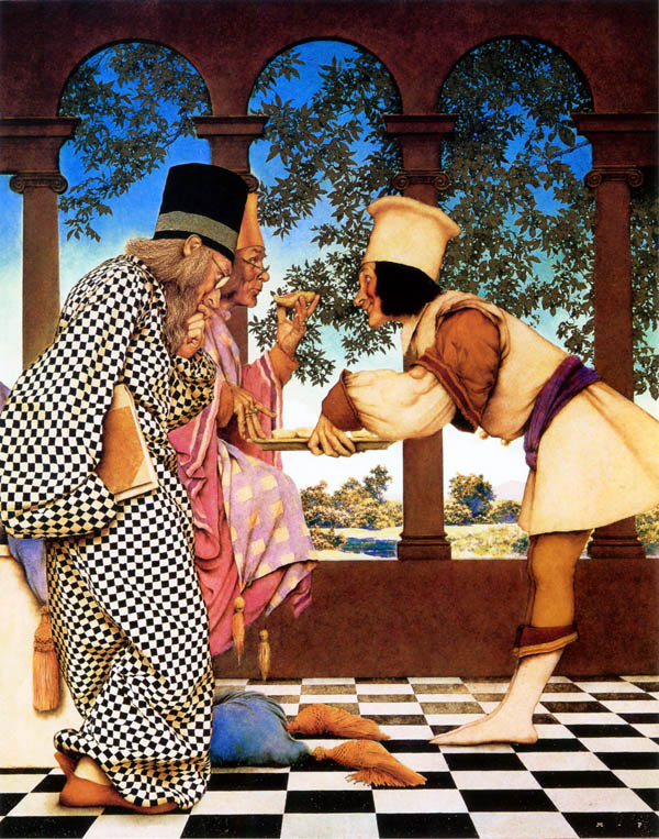 The King Sampling the Tarts Maxfield Parrish