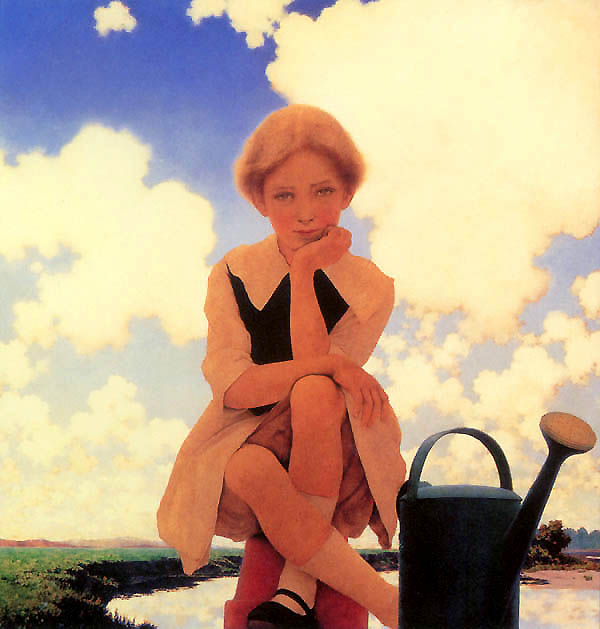 Mary Mary Quite Contrary, Maxfield Parrish
