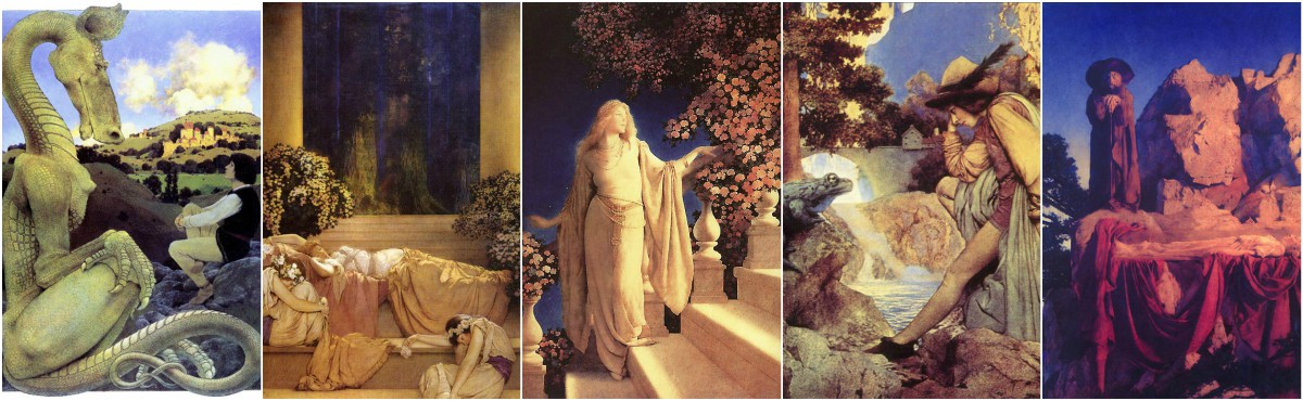 Maxfield Parrish, Myths and Fairy Tales illustrations. Art Prints at Artsy Craftsy