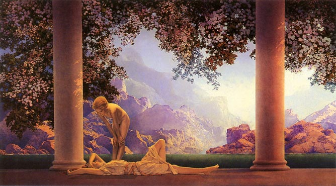 Daybreak, Maxfield Parrish. One of the most popular mass-market posters ever. Art Prints at Artsy Craftsy