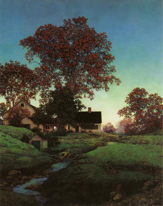Evening, Maxfield Parrish