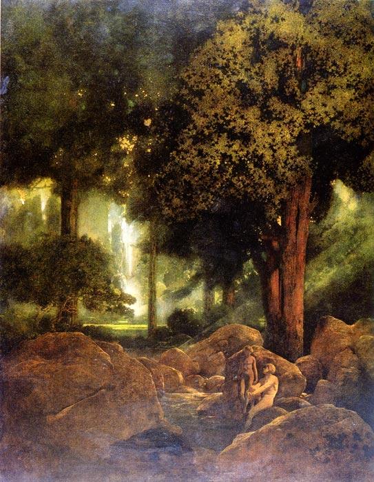 Fountain of Pirene, Maxfield Parrish