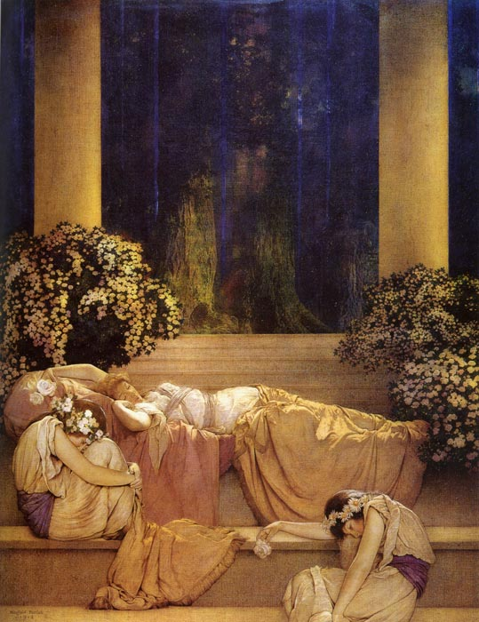 Sleeping Beauty, by Maxfield Parrish