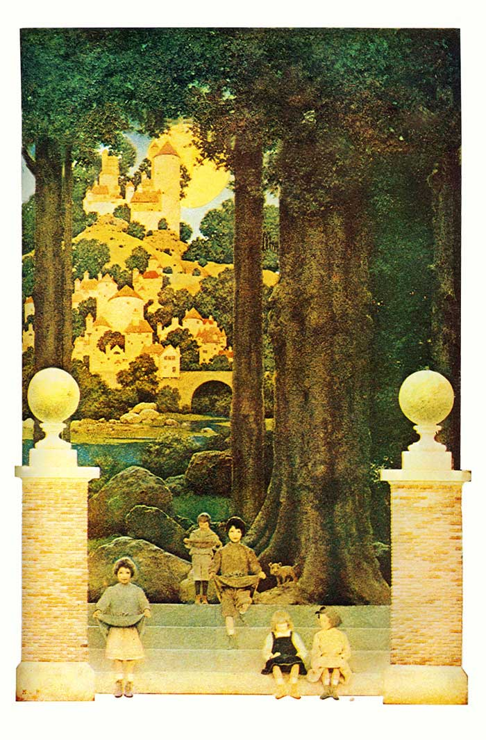 The Sugar Plum Tree, illustration by Maxfield Parrish to Poems of Childhood