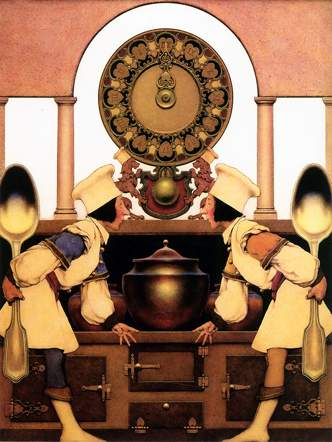 Pastry Chefs, by Maxfield Parrish, illustration to The Knave of Hearts