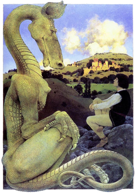 Reluctant_dragon, by Maxfield Parrish