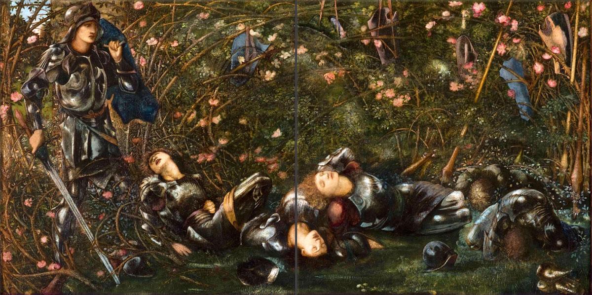 The Briar Wood border tiles from Edward Burne-Jones Briar Rose series.